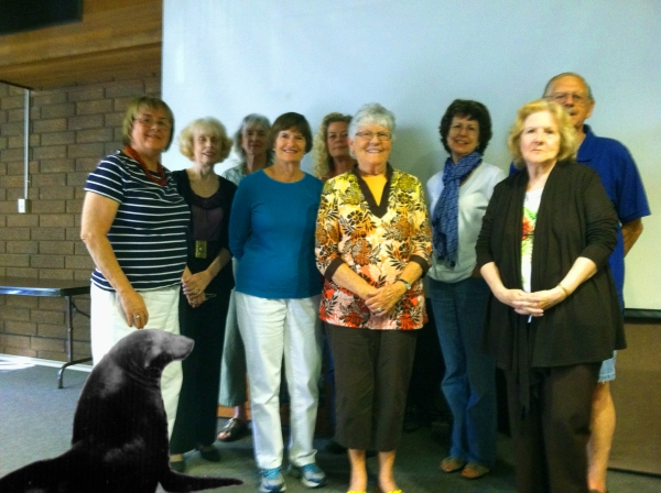 Slick and the Centennial History Committee at the Mary Wilson Library Senior Center on 6/28/24