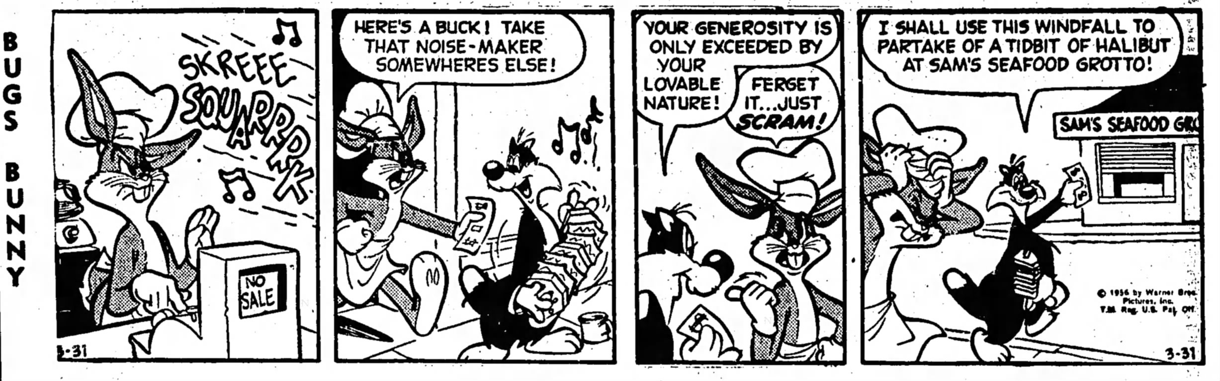 Image result for bugs bunny comic strip