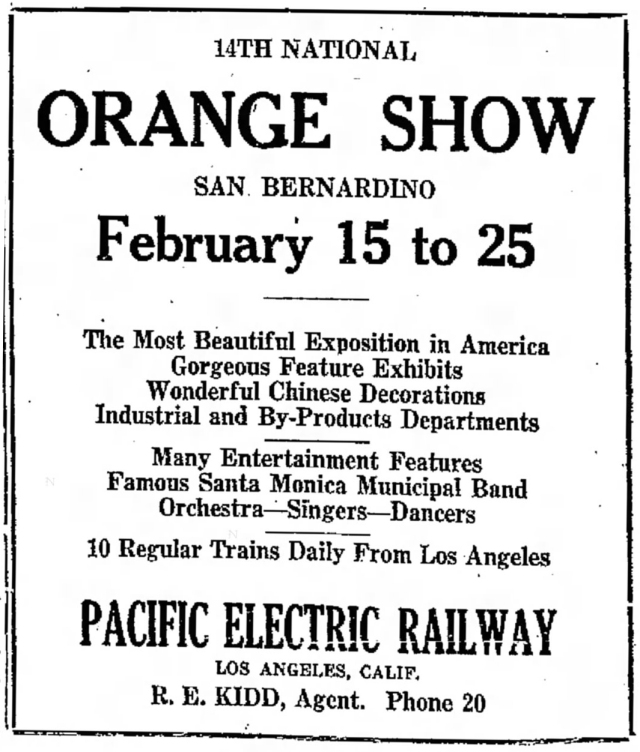 1924 National Orange Show Advertisement