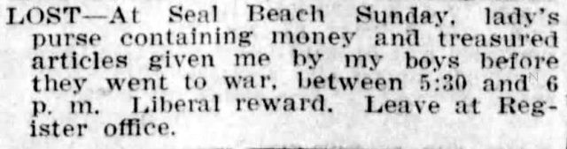 April 28_1918_Lost_Purse