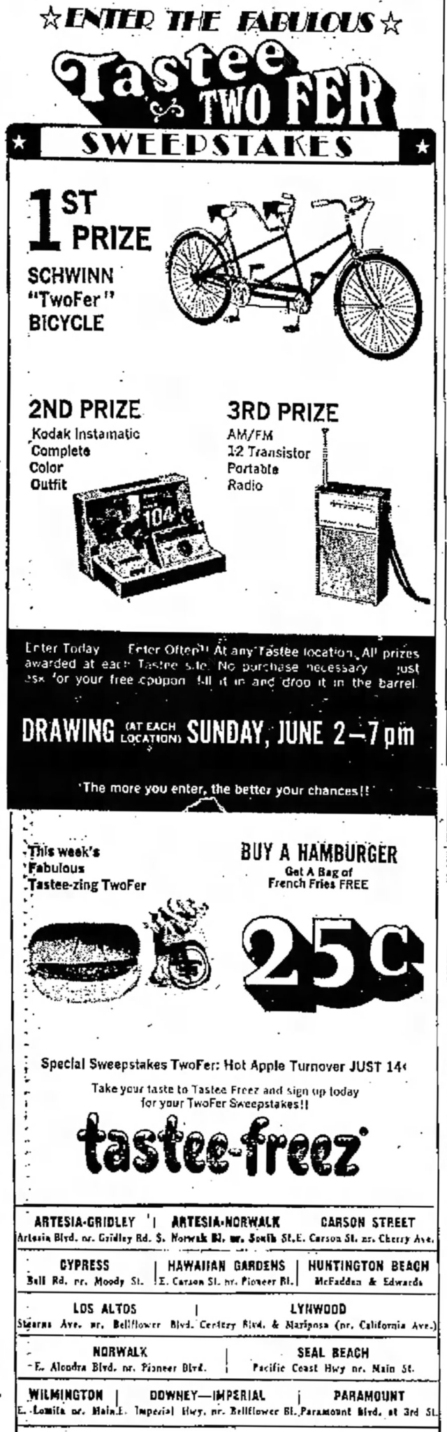 May_2_1968_Tastee_freez_contest_ad