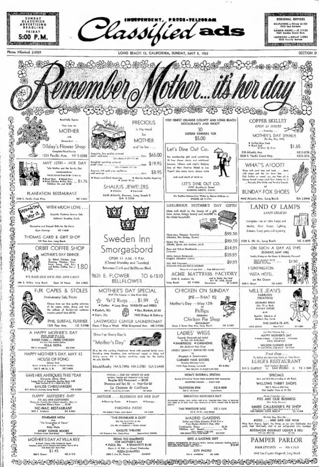 May_5_1963_Mothers_day_ad
