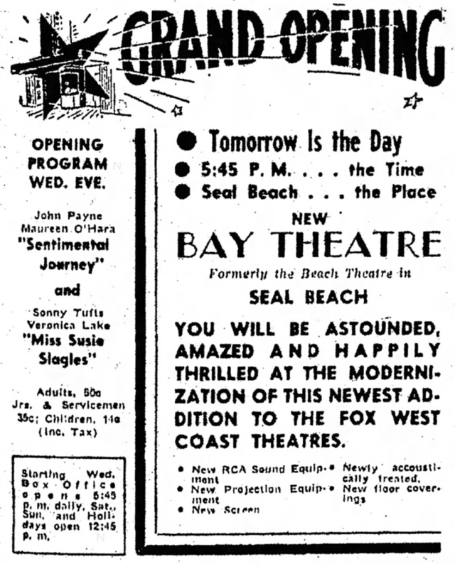 July_17_1946_Bay_Theater_grand_opening