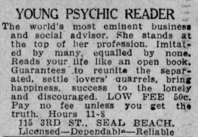 July_9_1940_Psychic_Reader